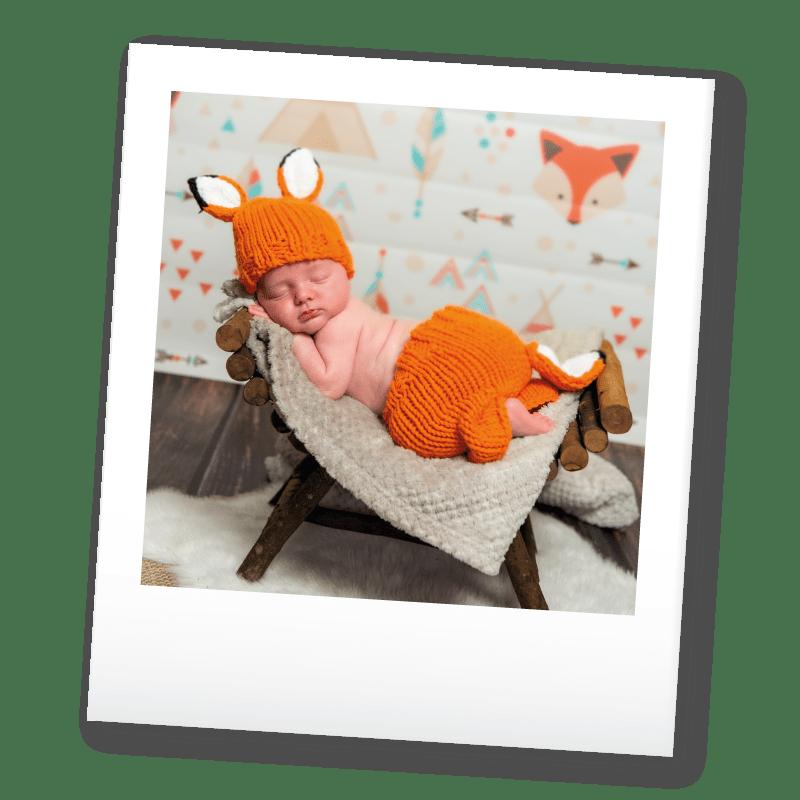Polaroid d'un bébé